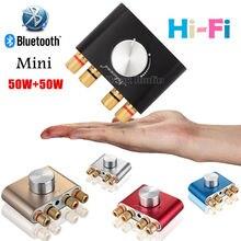 2017 Últimas Nobsound F900 Mini Bluetooth Amplificador Digital Hi-fi Stereo Power AMP 50 W + 50 W Con Adaptador De Energía ENVÍO GRATIS