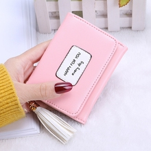 ONLVAN Nieuwe collectie Lady Short Coin Pouch Women Leather Wallet Kawaii Girl Small Change Portefeuilles Coin Bag 3 fold PU Leather Coin