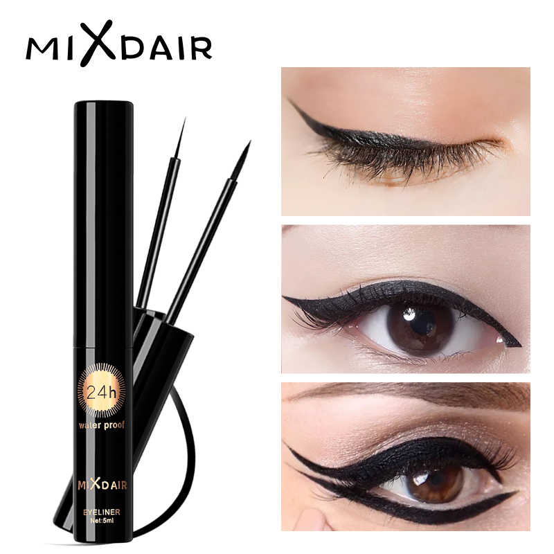 Mixdair Profesional Tahan Air Eyeliner Cair Beauty Cat Style Hitam Tahan Lama Eye Liner Pen Pensil Make Up Kosmetik