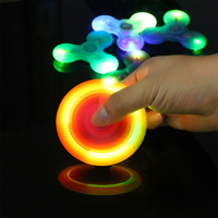 LED Light Fidget Spinner Finger Three Switch ABS EDC Glow Hand Spinner Tri For Kids Adult Autism ADHD Anxiety Stress Handspinner
