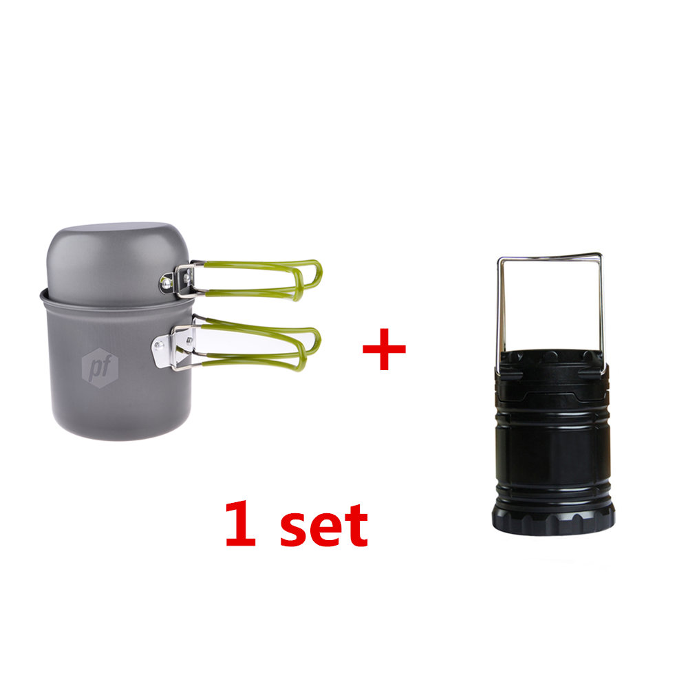 Outdoor Stoves Lower Price with Petforu Compact 2pcs Foldable Outdoor Cookware Picnic Bowl Pot Pan Set With Mesh Bag 30 Led Bulbs Collapsible Camping Lantern Campcookingsupplies