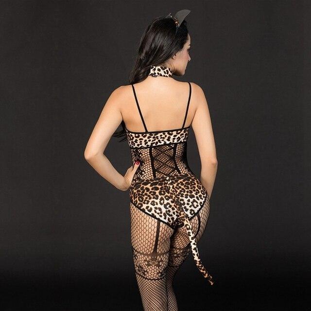 Leopard Bra Bodystocking  2
