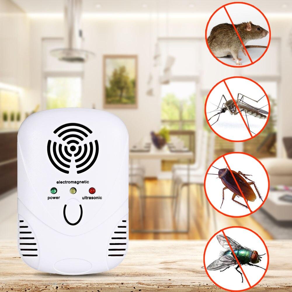 Электронный ультразвуковой отпугиватель комаров Мышь комаров убийца Мышь таракан ловушка насекомых крыс Пауки Борьба с вредителями