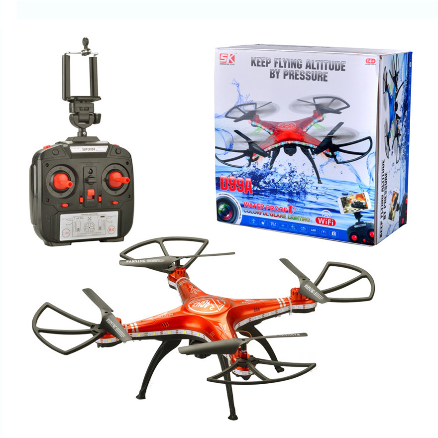 High Quqlity SHENGKAI D99A font b RC b font Quadcopter Drone WIFI FPV 2MP Camera 2