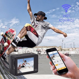 "Image 2 - 4K 2.0 ""Touch Screen WIFI Dual หน้าจอ 12MP กล้อง 30m DV 170 องศากว้างเลนส์มุมกว้างกีฬา Cam"