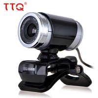 TTQ USB 2.0 Webcam pour Skype ordinateur de bureau ordinateur portable 1.5 M câble HD Web caméra avec Vision nocturne pour microphone 360 degrés