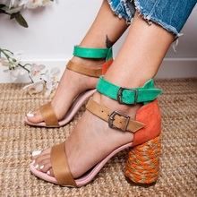 Women Sandals Ankle Strap Women Heels Sandals Peep Toe Summer Shoes Women High Heels Sandalias Mujer Causal Chaussures Femme 43