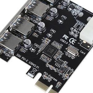 Image 5 - 4 portowa karta PCI E do USB 3.0 HUB PCI Express Adapter karty rozszerzeń 5 gb/s szybkość