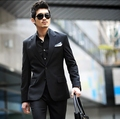 Free shipping 2014 brands men's business suits set men suit+pants wedding suits for men clothing