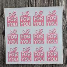 60pcs Pink Color For You Stickers DIY Hand Made For Gift Cake Baking Sealing Sticker 90pcs pack for you candy color sealing sticker stationery gift bakery stickers cookies label supply