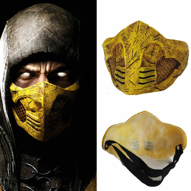 Mortal Kombat X Mask Cosplay Scorpion Halloween Party Mask