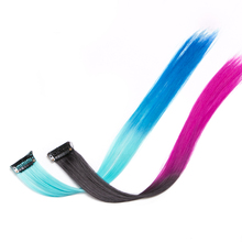 10 pcs/lot Synthetic hair Straight Clip In Extension 18 inch on cosplay ombre braiding synthetic hair
