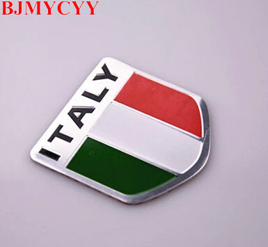 BJMYCYY New 3D Aluminum ITALY National Flag Emblem Badge Car / Motorcycle Signage Namepl ...