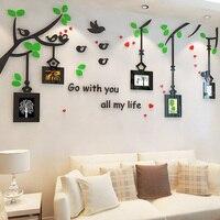 الإطار شجرة 3d الكريستال ثلاثي الأبعاد ملصقات الحائط غرفة نوم خلفية التلفزيون بلاط السيراميك جدار diy الديكور