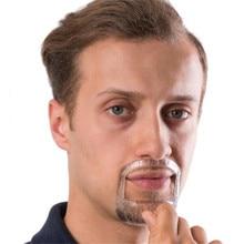 5 Sizes Beard Shaping Styling Tool Men Beard Grooming Shaving Template for Face Care Beard Trim Template Shaving Beauty Tool