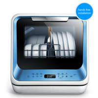 Midea Free Standing Mini Countertop Electric Dish Washer Hands Free Installation Automatic Dishwasher Machine For Dishes