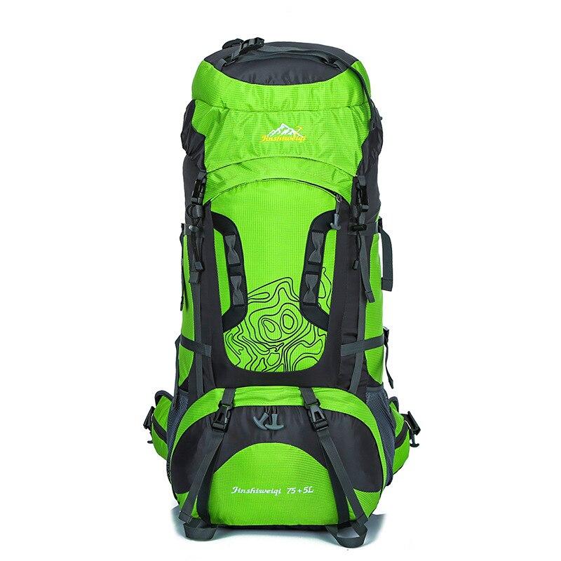 Sac à dos de haute qualité pour alpinisme en plein air 80 litres grande capacité 70 + 5L sac d'escalade étanche sacs à dos de randonnée