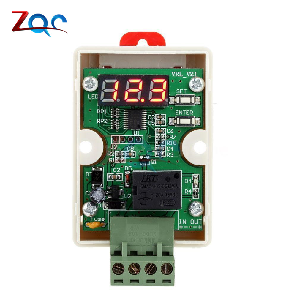 Dc 12v Relay Car Battery Undervoltage Module Protection Controller Circuit Electronic Fuse Low Voltage Automotive Power Switch Time Delay On Off Adjustable In Relays From Home Improvement