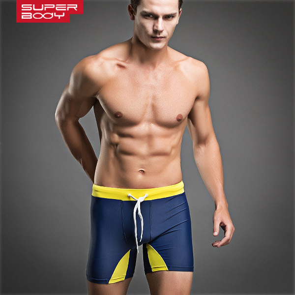 Sexy Swimwear Men Swimsuit Swim Trunks Swimming Shorts Beach Man Bathing Wear Sport Suit Bermudas Surfing Long Boxer Trunk Brand