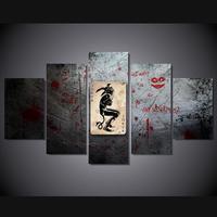 5 Panels Wall Art Suicide Squad Harley Quinn Joker Movie Poster Painting Art Print Unframed 1709