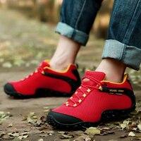 Brand XIANGGUAN Lovers Hiking Casual Shoes Men Sneakers Women Climbing Sport Shoe Athletic Net Yarn Fabric
