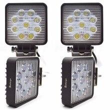 "4pcs 27W LED Work Light 4"" Inch 12V 24V Spot Flood Lamp for Motorcycle Tractor Truck Trailer SUV Off roads Boat 4WD Work Light"
