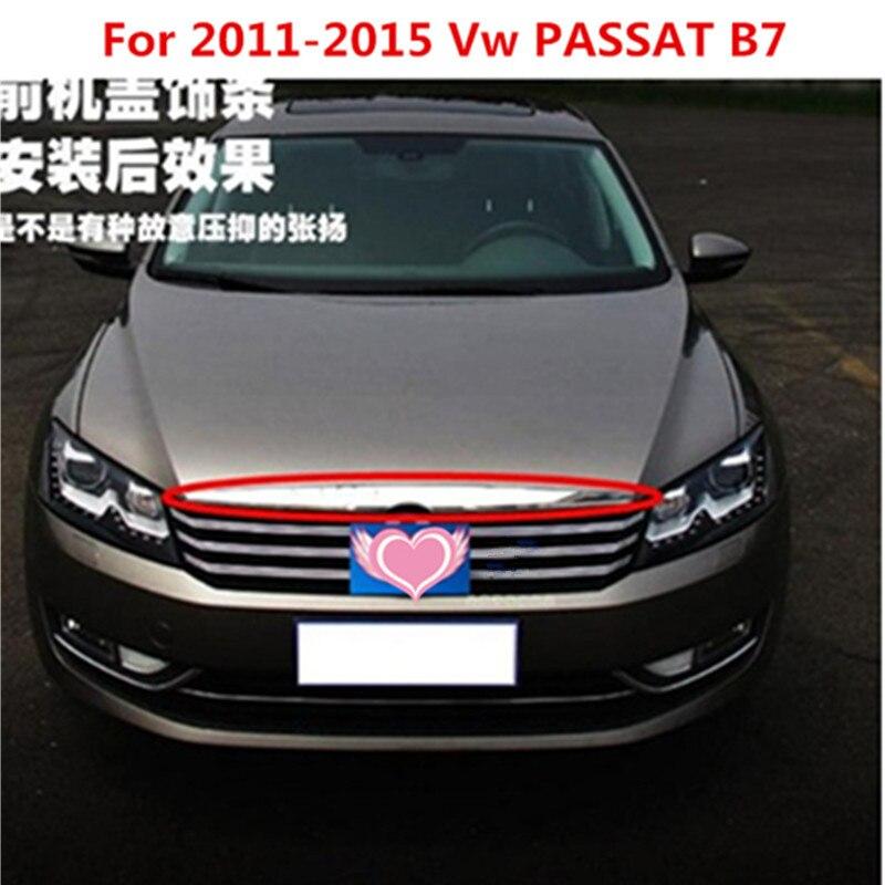 Calandre avant en Chrome ABS autour des garnitures de grilles de course pour Vw PASSAT B7 2011-2015