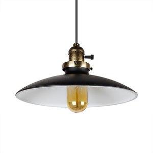 Image 3 - Loft Vintage Lampada A Sospensione Dia 250 millimetri E27 di Alluminio, Metallo, Ferro Retro Nord Europa Stile Industriale Edison Lampade a sospensione