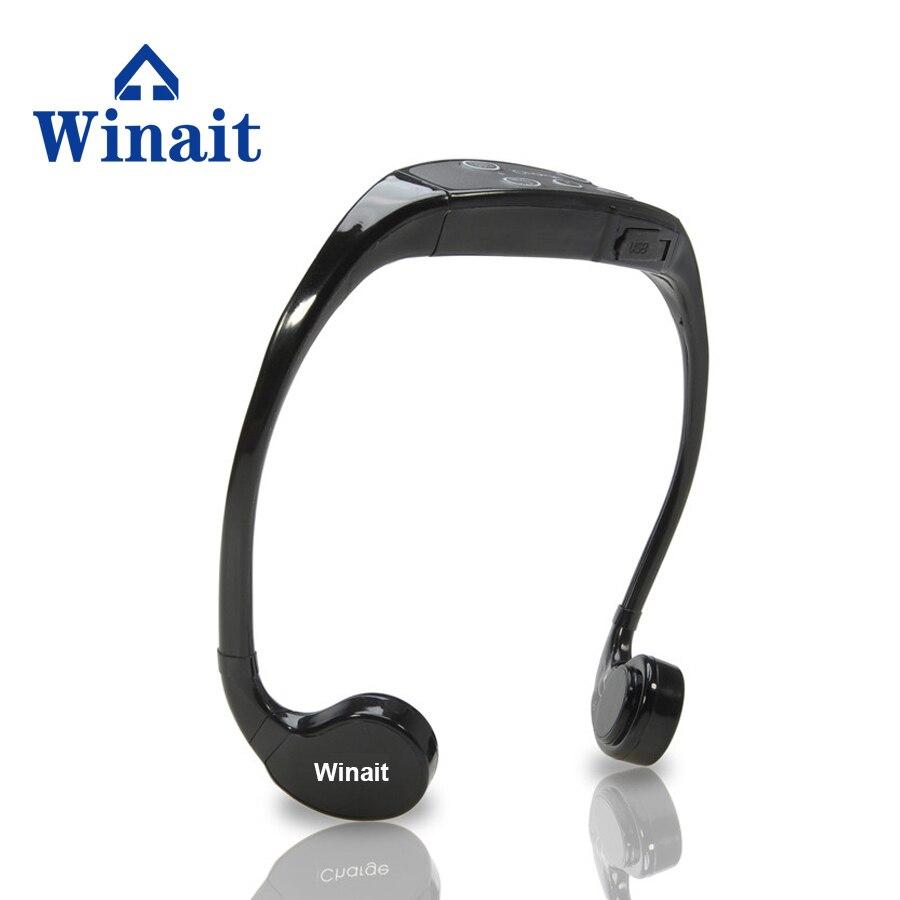 Горячий Стиль Продажа BH903 костной проводимости для наушников на слуховой аппарат Водонепроницаемый спортивные наушники Встроенная память 8 Гб Fresshipping