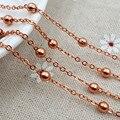 Розовое Золото цвет бусы ручной работы, медные цепи Для Европейского ожерелье Изготовление ювелирных Изделий аксессуары diy