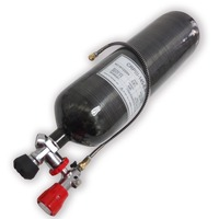 AC368301 Paintball scuba/hpa tank 6.8L black 4500psi co2 cylinder m18*1.5 compressed air pressure for pcp ACECARE