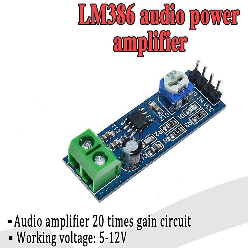 LM386 модуль усилителя мощности звука 200 увеличение времени Плата усилителя моно усилитель мощности 5в-12в вход