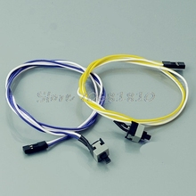 10Pcs/lot PC Computer Desktop ATX Power On Supply Reset Switch Connector Cable Cord #R179T#Drop Shipping