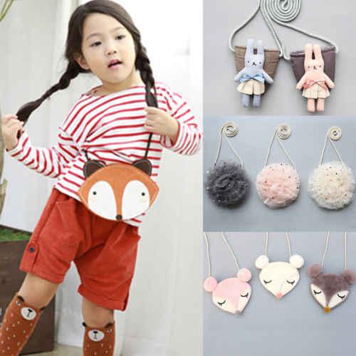 New kids crianças bonito princesa dos desenhos animados Meninas Do Bebê coelho Animais Bolsa de Ombro Bolsa CrossBody Sacos