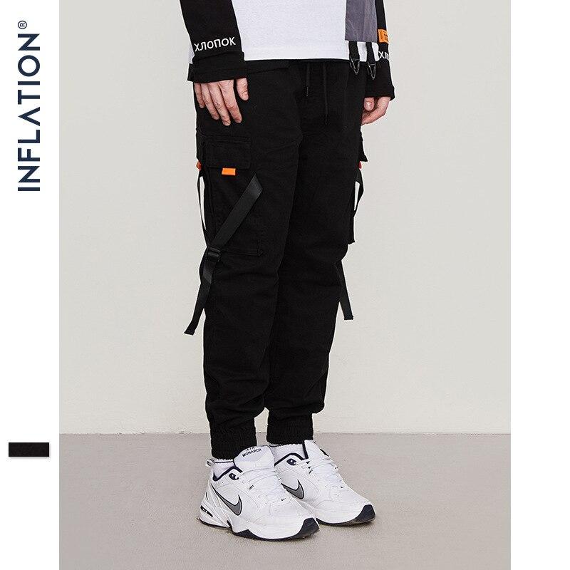 Gonflage Hip Hop Harem hommes survêtement s pantalon 2019 homme pantalon noir survêtement pantalon taille élastique pantalons décontractés hommes survêtement 8860W