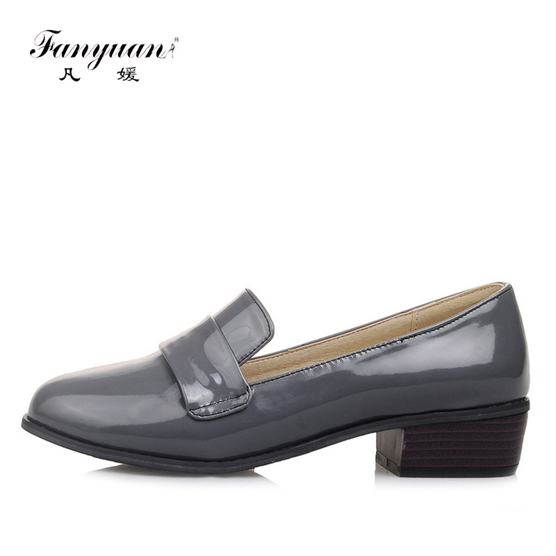 Fanyuan Flat Shoes Woman British Style Ladies Flat Oxfords Shoes Casual Slip-on Black Oxford Shoes for Women Plus Size 34-48 цены