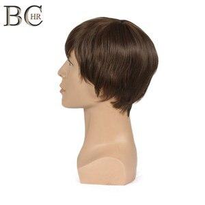 Image 3 - BCHR Breve Rettilineo Uomini Sintetici Parrucca per il Maschio Parrucche di capelli Naturali di Colore Marrone di Trasporto libero PARRUCCHE Toupet