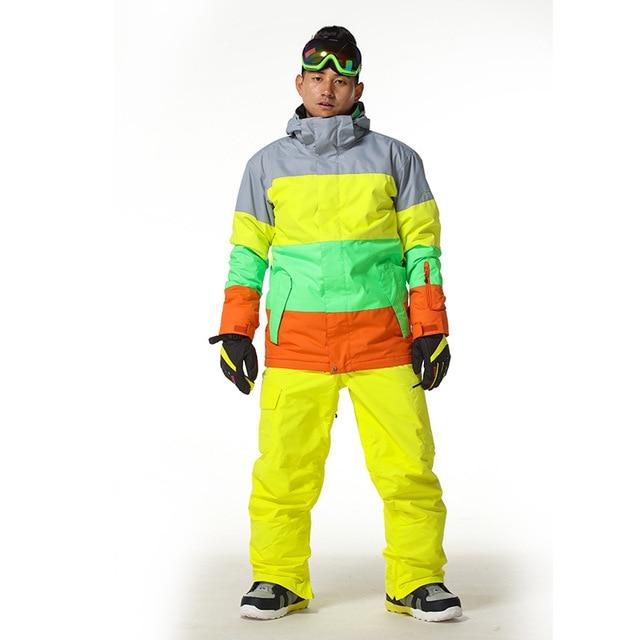 GSOU SNOW мужской лыжный костюм Мужская однобортовая и двухбортовая Лыжная 1403-002