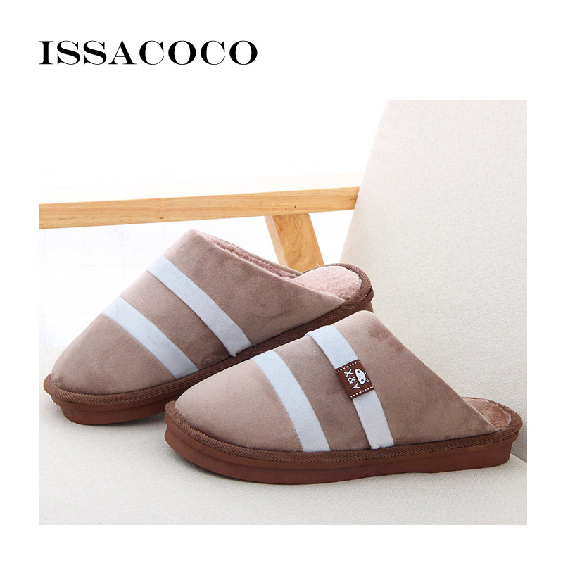 ISSACOCO Slippers Heren Winter Katoenen Slippers Heren Schoenen - Herenschoenen - Foto 4