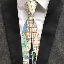 10pcs Fashion Unique Design Polyester The Statue Of Liberty Ties 9cm Classic Artisit Necktie Gentlemen Woven Gravatas for Men