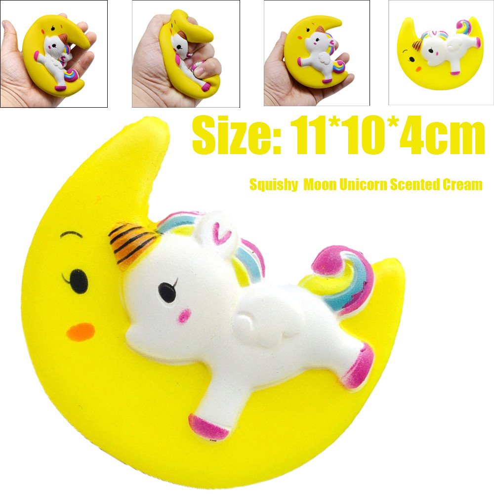 Enormous Moon Unicorn Scented Squishy Charm Slow Rising Simulation Kid Toy funny gadgets electronicos for antistress