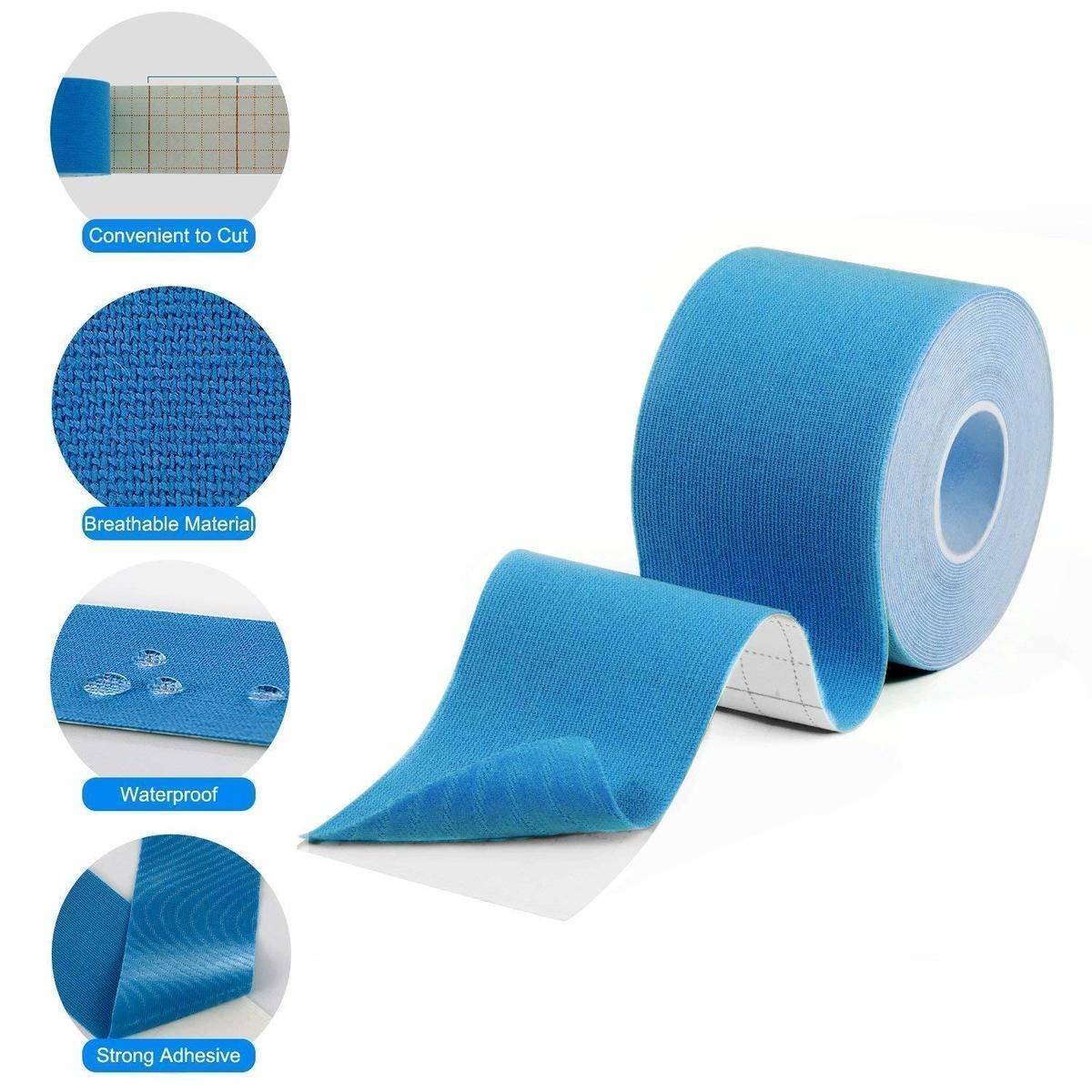 REXCHI Elastic Tape Kinesiology Athletic Recovery Kneepad Sports Safety Muscle Pain Relief Knee Pads Support Gym Fitness Bandage