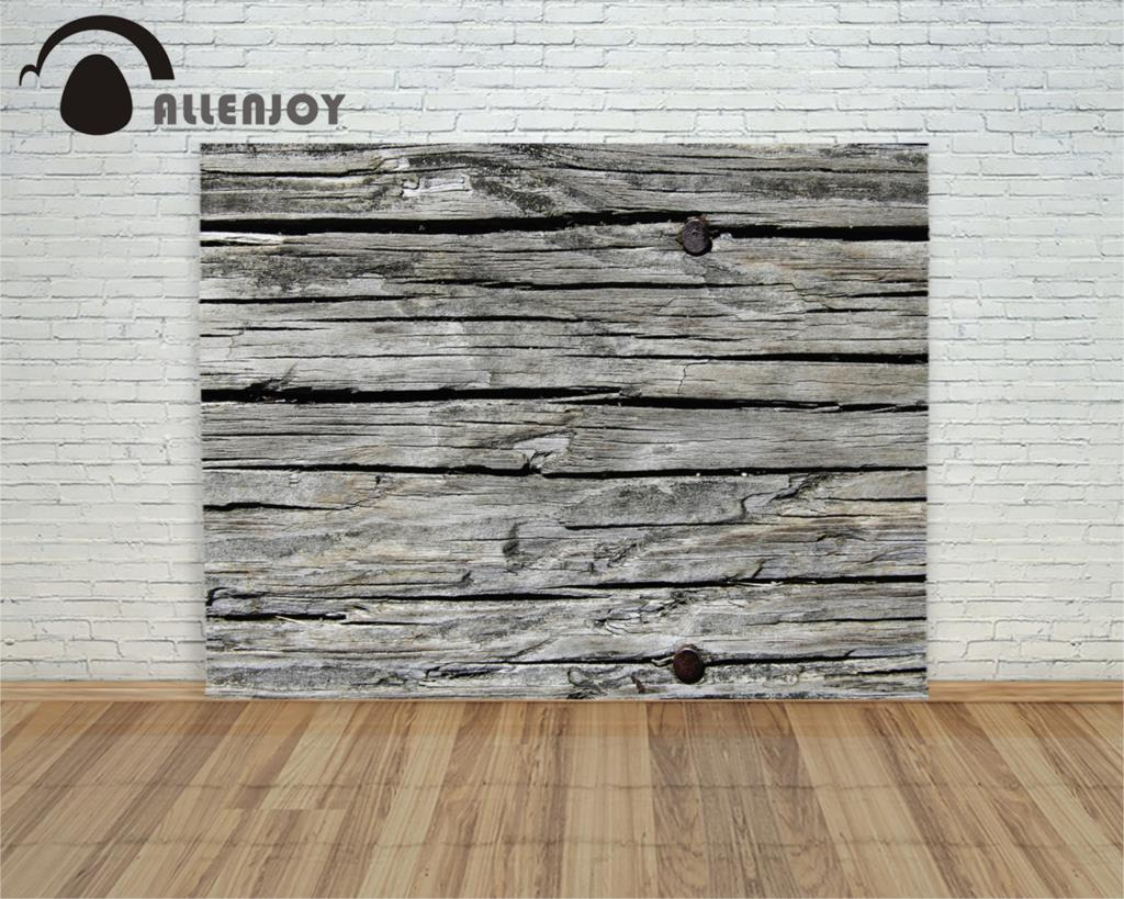 Allenjoy Photography Backdrop Le Weathered Wood Wall Slats Vintage Backgrounds Wallpaper Photophone For Photo Nail Studio