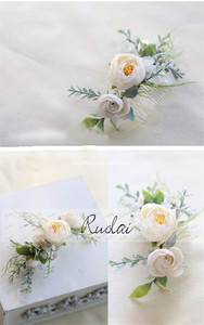 Image 3 - Boho Wedding Hair Accessories Woodland Flower Hair Comb Bridal Headwear Handmade Wedding Jewelry Headpiece Crown Women HD11