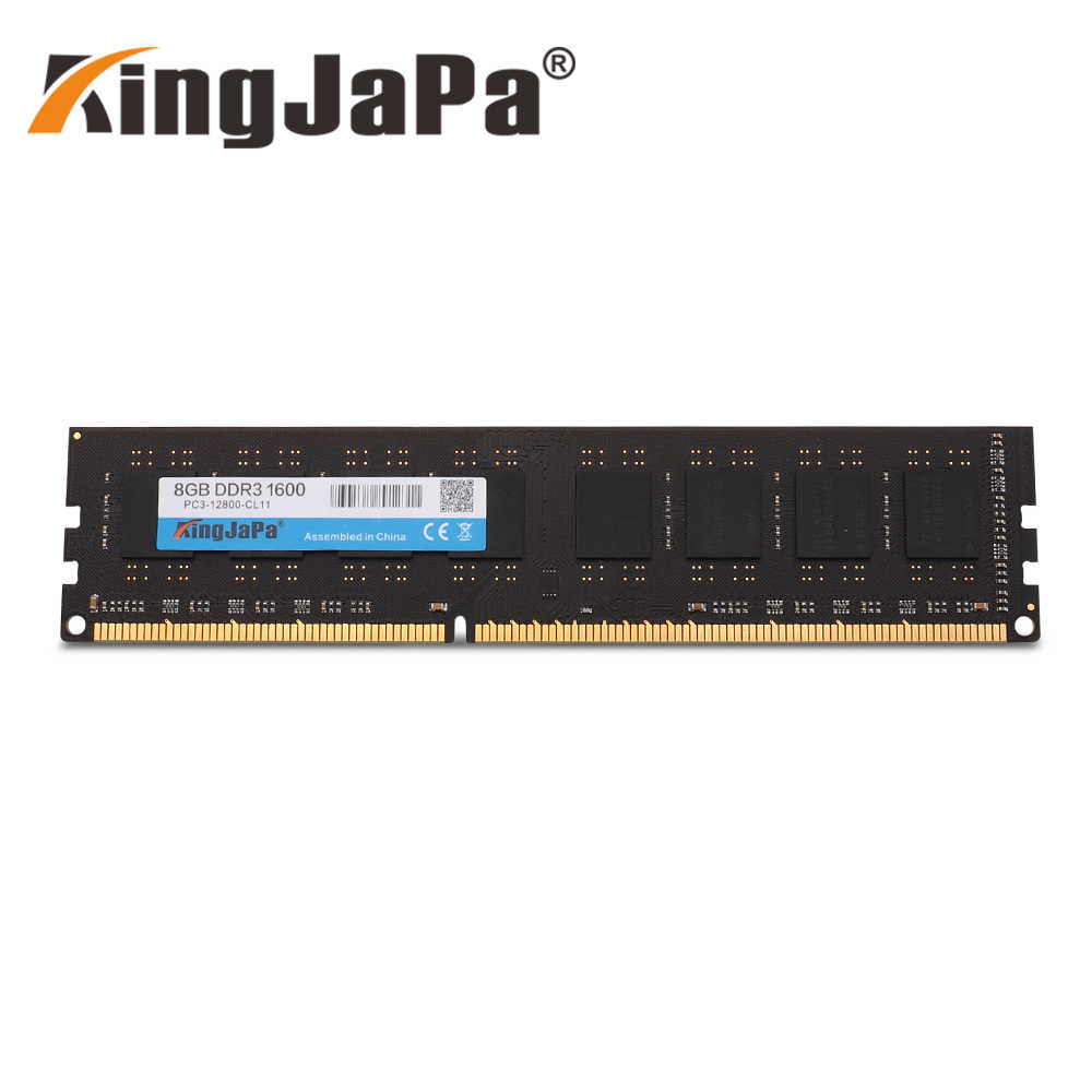 Kingjapa RAM DDR3 4GB 1333 MHz หน่วยความจำ Desktop 240pin 1.5V 2GB 8GB ใหม่ DIMM 1600 PC3 12800 CL11 DDR2 2G 800MHz PC2-6400U ใหม่