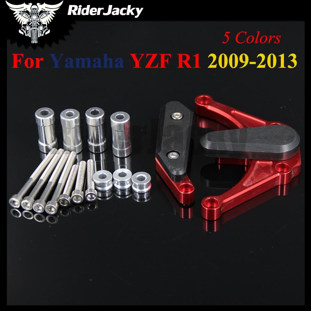 Motorcycle CNC Frame Sliders Protector Crash Pads For YAMAHA YZFR1 YZF-R1 2009 2010 2011 2012 2013