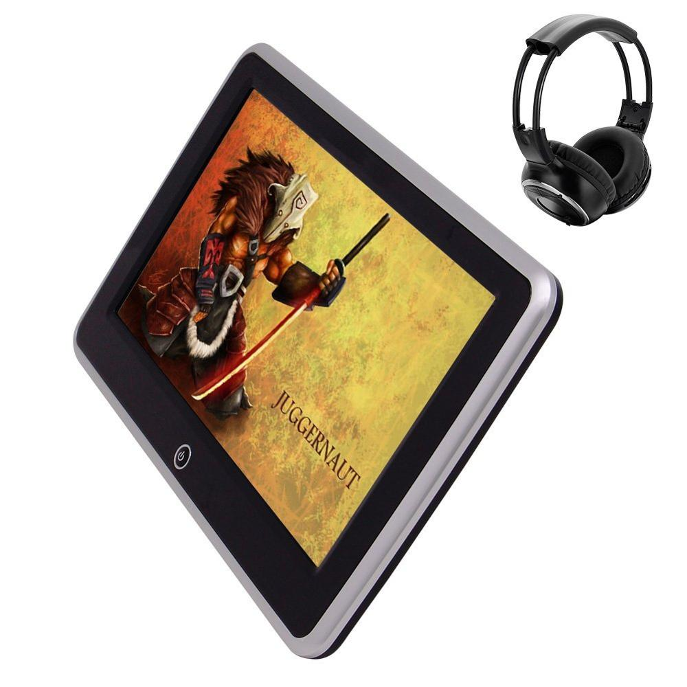 Car No DVD Player 10.1″ Headrest Android 6.0 1080P Video Touch Screen Auto Monitor Support HDMI FM IR WiFi TF USB AV +Headphone