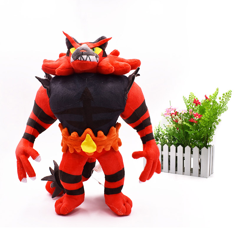 Alola Incineroar Solgaleo Lunala SUN/MOON Stuffed Plush Doll Soft Animal Dolls Hot Toys 33 CM Great Gift For Children