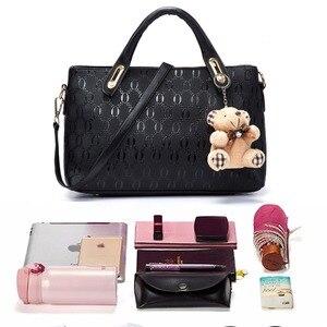 Image 5 - Soperwillton Women Bag Top Handle Bags Female Famous Brand 2020 Women Messenger Bags Handbag Set PU Leather Composite Bag #150