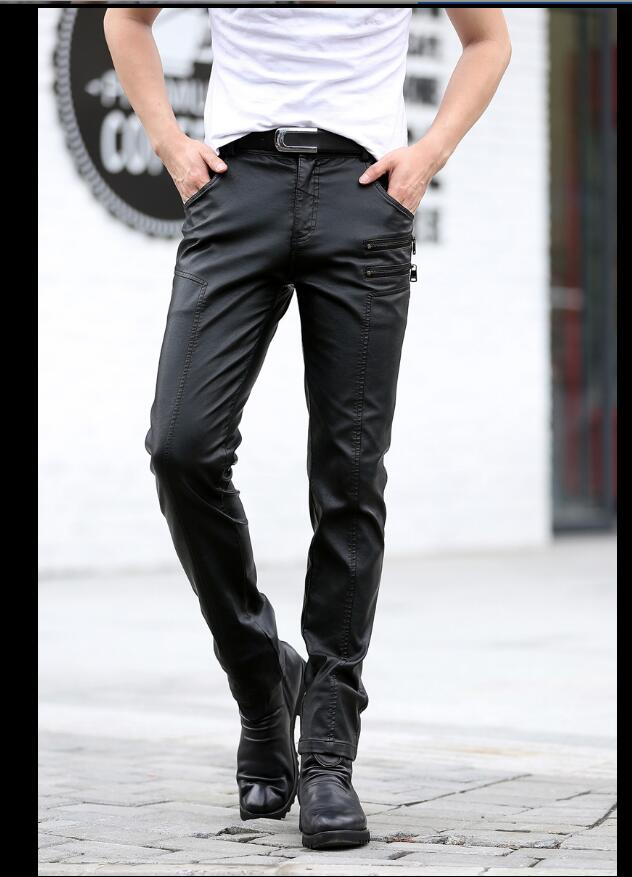 De Hombres Locomotora La M Jóvenes Negro Pantalones Cuero Para Motocicleta Pantalón fitting Otoño Los Metros Tight 5xl Más Tamaño qnwYPwSt